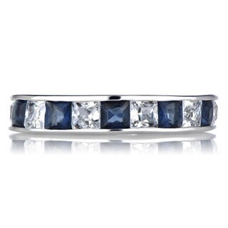 Sterling Silver CZ Eternity Band Ring (4 options available)