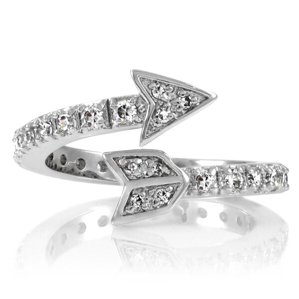 Brass based wrapped cz arrow ring free shipping today for Jewelry storm arrow ring