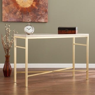 Harper Blvd Ogden Travertine Faux Stone Sofa/ Console Table