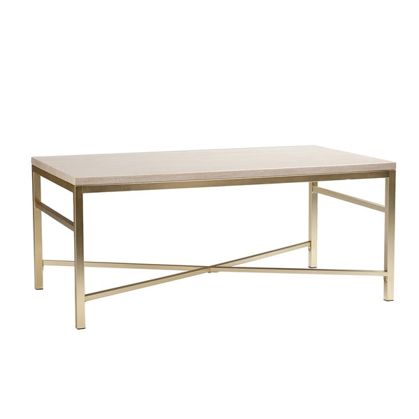 High Quality Harper Blvd Ogden Travertine Faux Stone Coffee/ Cocktail Table   Free  Shipping Today   Overstock.com   17525176