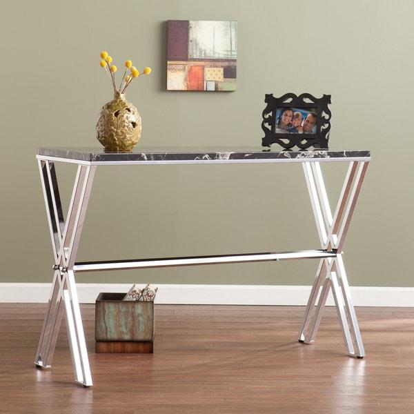 Eldredge Black Marble Faux Stone Sofa/ Console Table