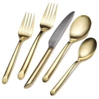 Towle Living Goldtone 'Wave' Stainless Steel 20-piece Flatware Set