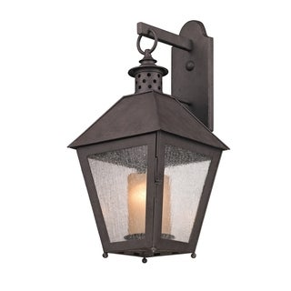 Troy Lighting Sagamore 1-light Medium Wall Sconce, Clear Seeded
