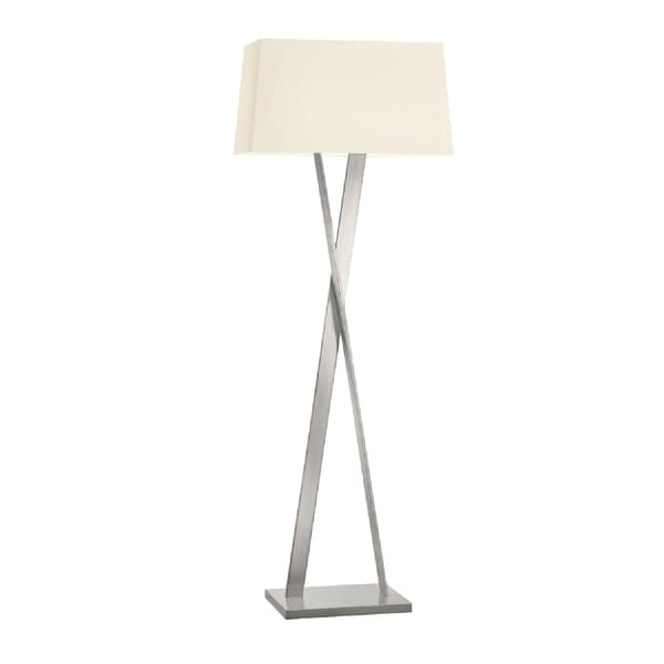 Sonneman Lighting Satin Nickel X Floor Lamp