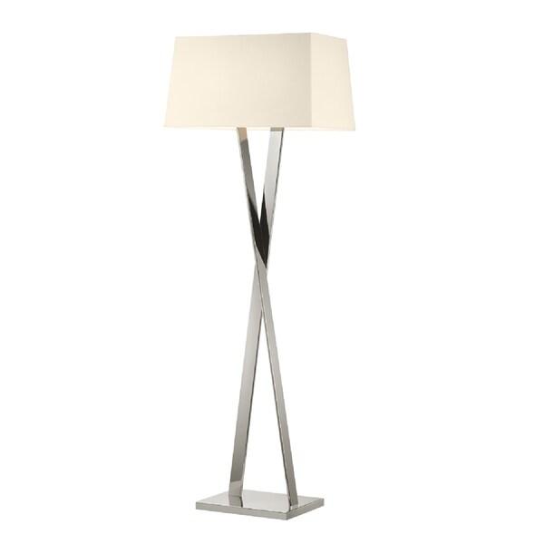 Sonneman Lighting Polished Nickel X Floor Lamp