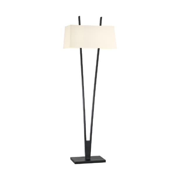 Sonneman Lighting Satin Black V Floor Lamp