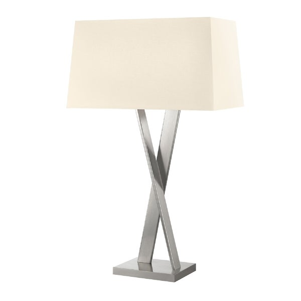 Sonneman Lighting Satin Nickel X Table Lamp