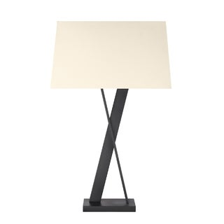 Sonneman Lighting Satin Black X Table Lamp