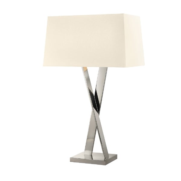 Sonneman Lighting Polished NIckel X Table Lamp
