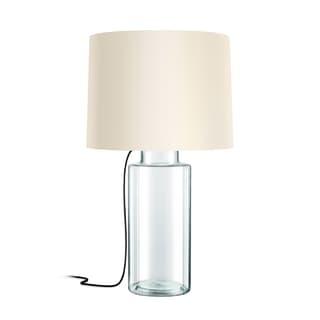 Sonneman Lighting Vaso Clear Table Lamp, Black Silk Cord
