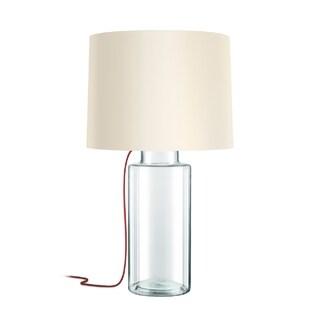 Sonneman Lighting Vaso Clear Table Lamp, Red Silk Cord