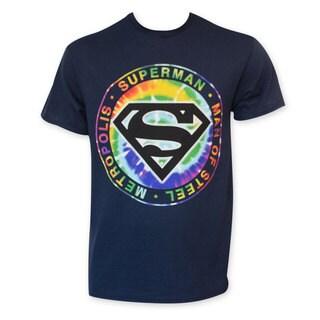 Superman Tie Dye Logo Tee Shirt