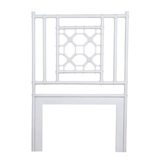Montrose White Solid Rustic Lattice Twin Headboard