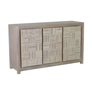 Cortez Traditional White Wash Media Console