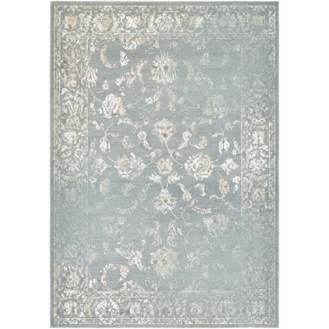 "Couristan Provincia Botanic Applique/ Mint-cream Area Rug - 9'2"" x 12'5"""