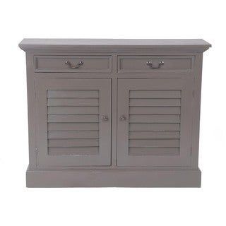 Frisco Vintage Smoke Grey Shutter Door Cabinet