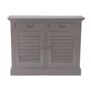 Frisco Vintage Smoke Grey Shutter Door Cabinet