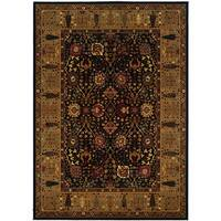 Royal Kashimar Cypress Garden Black-Deep Maple Rug (9'10 x 13'9)