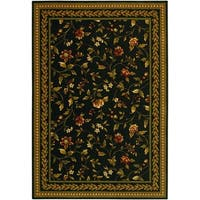 Couristan Royal Luxury Winslow Ebony Wool Rug (9'6 x 13'9)