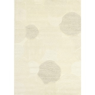 "Hand-Crafted Barlow Atria White Area Rug - 9'6"" x 13'"
