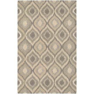 "Hand-Crafted Barlow Salij Cream/Brown Area Rug - 9'6"" x 13'"