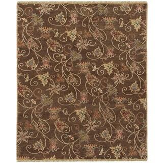 Oasis RA 12 Chocolate Brown Colored Rug (3' x 5')