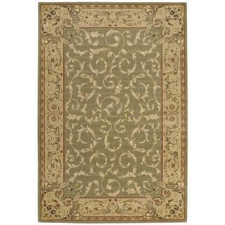 Nourison Chalet Light Green Rug (5'3 x 7'9)