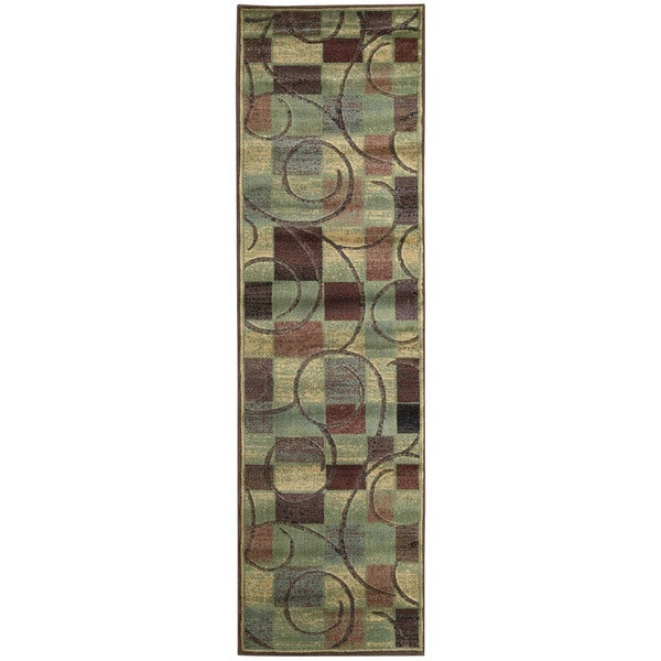 Nourison Expressions Brown Runner Rug (2'3 x 8')