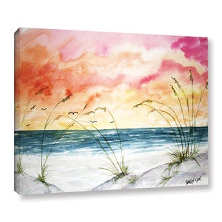 ArtWall Derek Mccrea 'Abstract Seascape' Gallery-wrapped Canvas