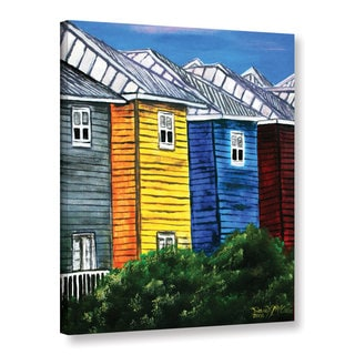 "ArtWall Derek Mccrea ""Beach Houses"" Gallery-wrapped Canvas"