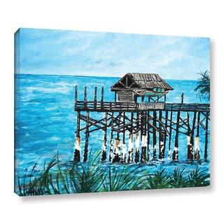 ArtWall Derek Mccrea 'Pier' Gallery-wrapped Canvas