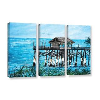 ArtWall Derek Mccrea 'Pier' 3 Piece Gallery-wrapped Canvas Set