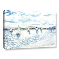 ArtWall Derek Mccrea 'Sailboats 2' Gallery-wrapped Canvas
