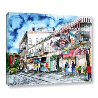 ArtWall Derek Mccrea 'Savannah River Street' Gallery-wrapped Canvas