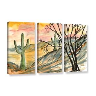ArtWall Derek Mccrea 'Arizona Evening' 3 Piece Gallery-wrapped Canvas Set