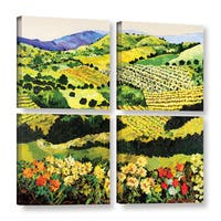 ArtWall Allan Friedlander 'Autumn Remembered' 4 Piece Gallery-wrapped Canvas Square Set - Multi