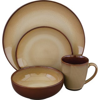 Sango Nova Brown 16-piece Dinnerware Set