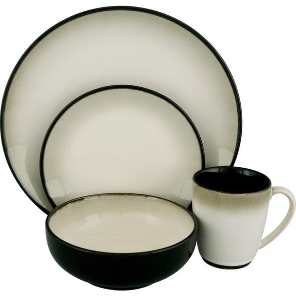 Sango Nova Black 16-piece Dinnerware Set  sc 1 st  Overstock & Sango Nova Black 16-piece Dinnerware Set - Free Shipping Today ...