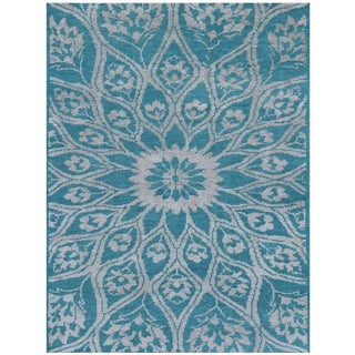 Kimaya KIM 109 Teal Colored Rug (5' x 8')