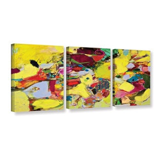 ArtWall Allan Friedlander 'Bumble' 3 Piece Gallery-wrapped Canvas Set