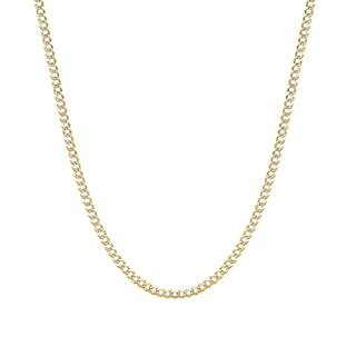 Pori 14k Two-tone Gold Cuban Pave Chain Necklace https://ak1.ostkcdn.com/images/products/10427596/P17526126.jpg?impolicy=medium