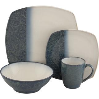 Sango Metallics Blue 16-piece Dinnerware Set
