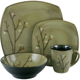 Sango Blossom Black 16-piece Dinnerware Set