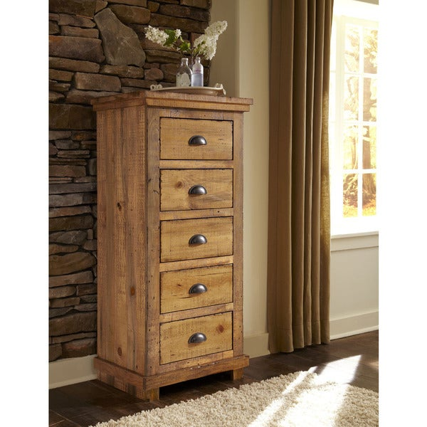 Willow Distressed Pine Lingerie Chest