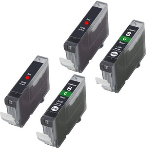Canon CAN-CLI-8R x2 CAN-CLI-8G x2 Compatible Inkjet Cartridge PIXMA Pro 9000 (Pack of 4)