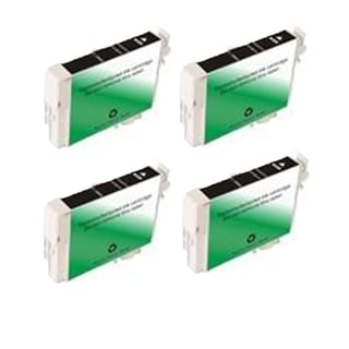 Replacement Epson T088120/ T0881/ Stylus CX4450/ Stylus CX7400/ Stylus CX7450 Black Ink Cartridge (Pack of 4)