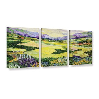 ArtWall Allan Friedlander 'Cool Grass' 3 Piece Gallery-wrapped Canvas Set