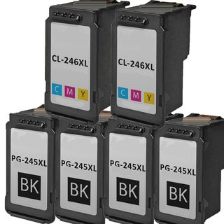 PG-245XL CL-246XL Compatible Inkjet Cartridge For PIXMA MG2420 MG2922 MG2924 MG2520 MG2920 IP2820 (Pack of 6)