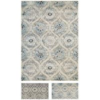 "Couristan Cire Cherrington/ Greige-Antique Cream Rug (8' x 11') - 7'10"" x 11'2"""
