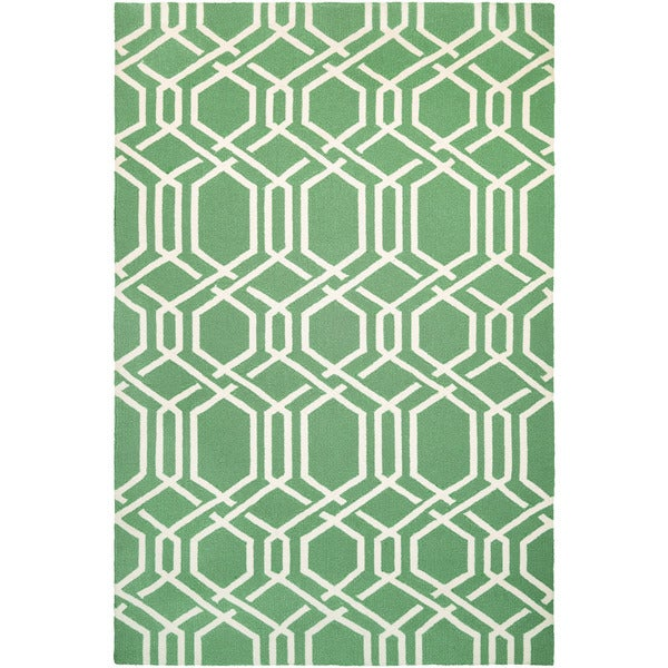 Couristan Covington Ariatta Sea Mist Indoor/Outdoor Rug - 8' x 11'